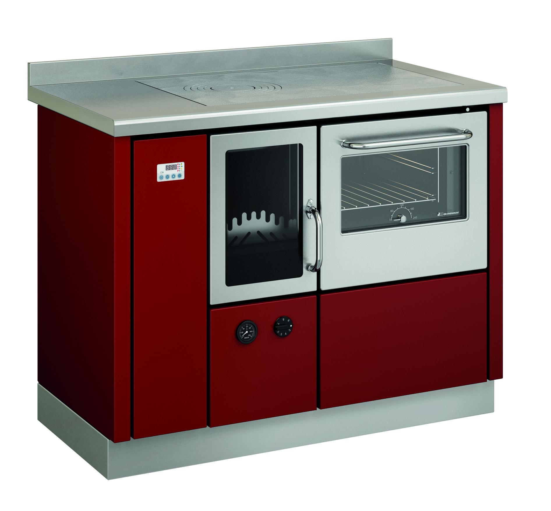 Termocucine-FKA110P-rossa-com-kit-integrado